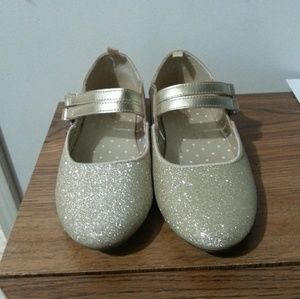 OshKosh B'gosh Gold Shoes with sparkles. Worn once